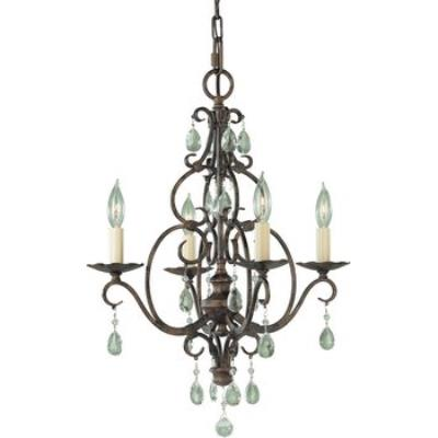 Feiss F1904/4MBZ 4 Lt Mini Duo Chandelier w/crystals
