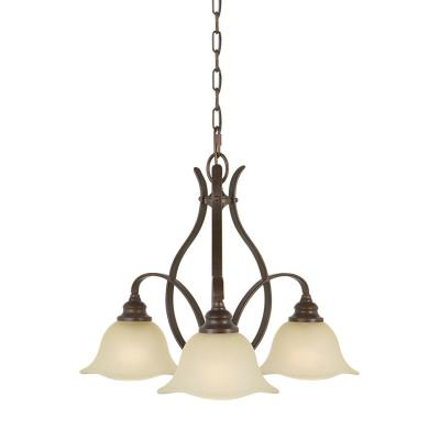 Feiss F2049/3GBZ Morningside - Three Light Chandelier