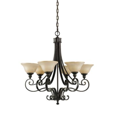 Feiss F2187/6LBR Cervantes CollectionChandelier