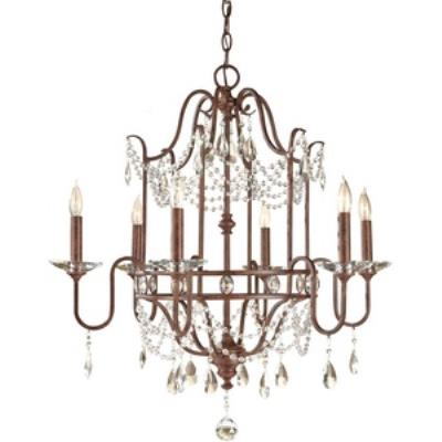 Feiss F2475/6MBZ Gianna Scuro - Six Light Chandelier