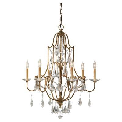Feiss F2478/6OBZ Valentina - Six Light Chandelier