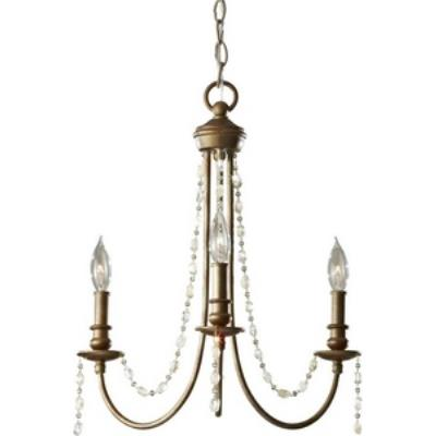 Feiss F2713/3RUS Aura - Three Light Chandelier