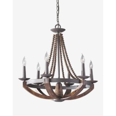 Feiss F2749/6RI/BWD Adan - Six Light Chandelier