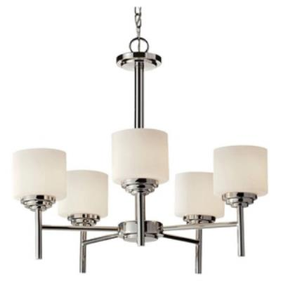 Feiss F2766/5PN Malibu - Five Light Chandelier
