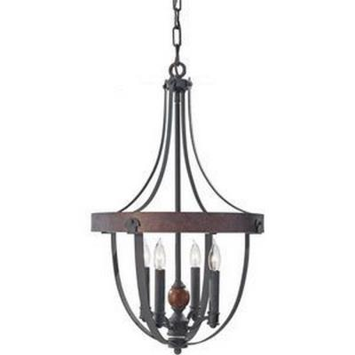 Feiss F2798/4AF/CBA Alston - Four Light Chandelier