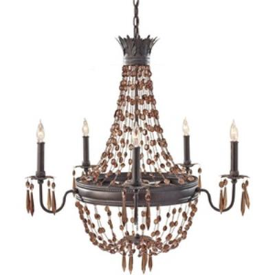 Feiss F2804/5RI Marcia - Five Light Chandelier
