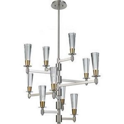 Feiss F2816/10BN/NB Celebration - Ten Light Multi-Tier Chandelier