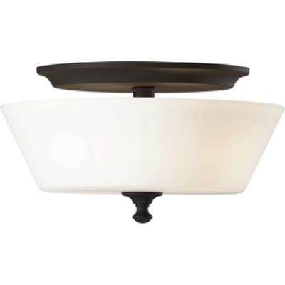 Feiss FM354BK Peyton - Two Light Flush Mount