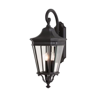 Feiss OL5404BK Cotswold Lane - Three Light Outdoor Wall Lantern