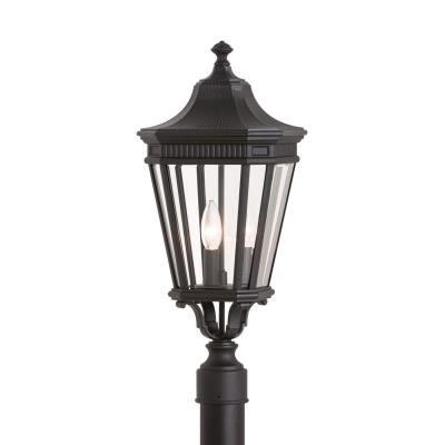 Feiss OL5407BK Cotswold Lane - Three Light Outdoor Post Mount