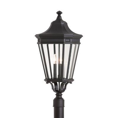 Feiss OL5408BK Cotswold Lane - Three Light Outdoor Post Mount