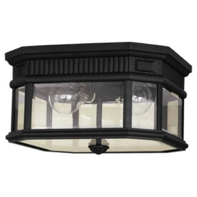 Feiss OL5413BK Cotswold Lane - Two Light Outdoor Flush Mount