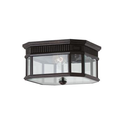 Feiss OL5413GBZ Cotswold Lane - Two Light Outdoor Flush Mount
