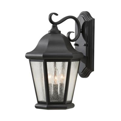 Feiss OL5902BK Martinsville - Three Light Outdoor Wall Lantern