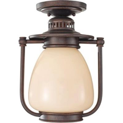 Feiss OLPL7413GBZ Mc Coy - One Light Outdoor Flush Mount