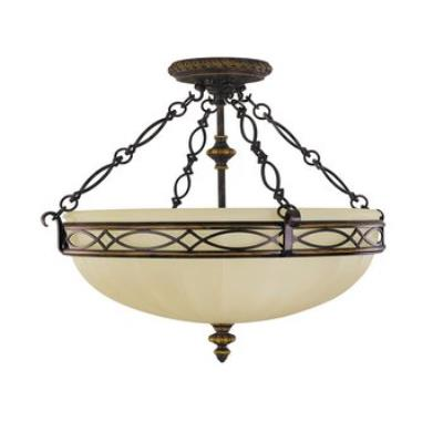 Feiss SF221WAL The Edwardian Collection Semi-Flush