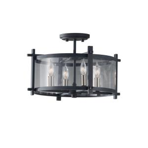 Ethan - Four Light Indoor Semi-Flush Mount