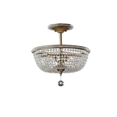 Feiss SF301BUS Dutchess - Three Light Semi-Flush Mount