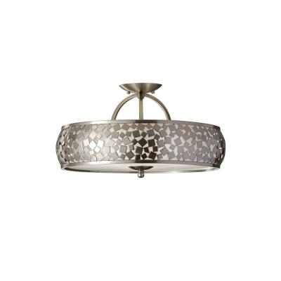 Feiss SF305BS Zara - Three Light Semi-Flush Mount