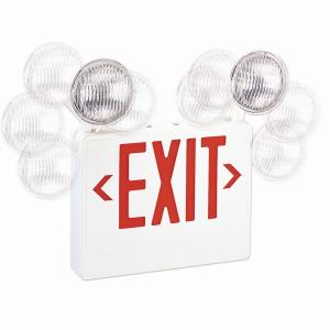 "22"" 3.8W LED Exit Emergency Light with Adjustable Round Heads"