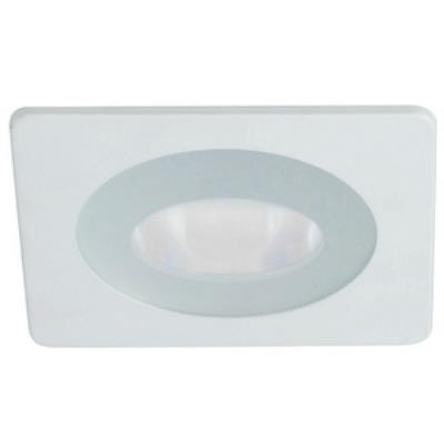 "Nora Lighting NL-4827W Accessory - 4"" Flat Lens with Clear Center and Square Trim"