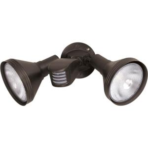 Two Light Outdoor Flood Light with Adjustable Swivel & Motion Sensor