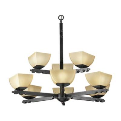 PLC Lighting 13419 Camille - Nine Light Chandelier