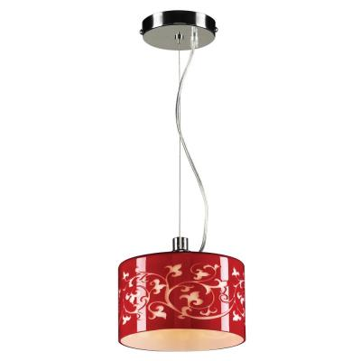 PLC Lighting 81821 RED Tuxedo - One Light Mini-Drop Pendant