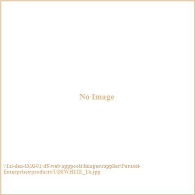 Parasol Enterprises UD8WHITE 8' Alupro Patio Umbrella