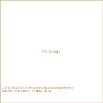 Parasol Enterprises UV9CHILI 9' Wood Market V-Range Patio Umbrella