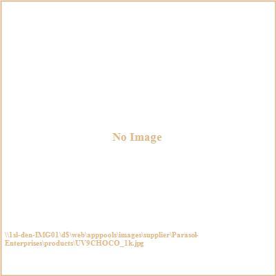Parasol Enterprises UV9CHOCO 9' Wood Market V-Range Patio Umbrella