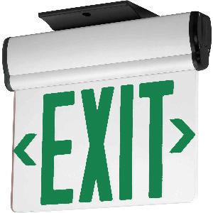 Exit Sign with Green Colored Letters