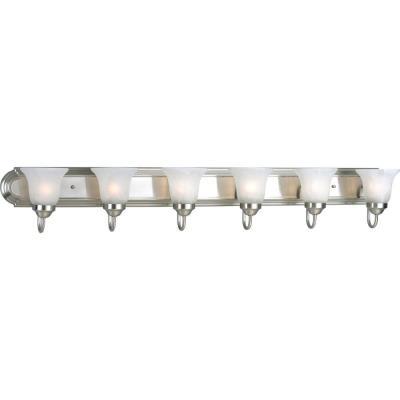 Progress Lighting P3056-09 Builder - Six Light Bath Bar