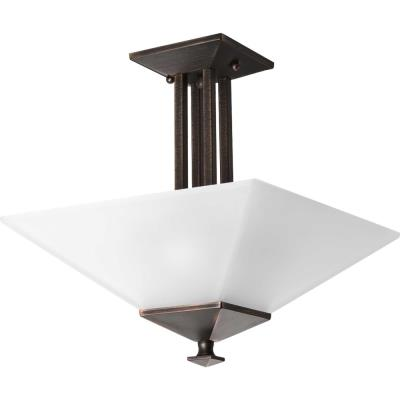 Progress Lighting P3597-74 North Park - Two Light Convertible Semi-Flush Mount