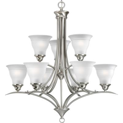 Progress Lighting P4329-09EBWB Trinity - Nine Light 2-Tier Chandelier