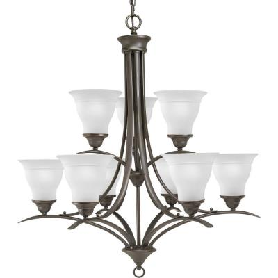 Progress Lighting P4329-20 Trinity - Nine Light 2-Tier Chandelier