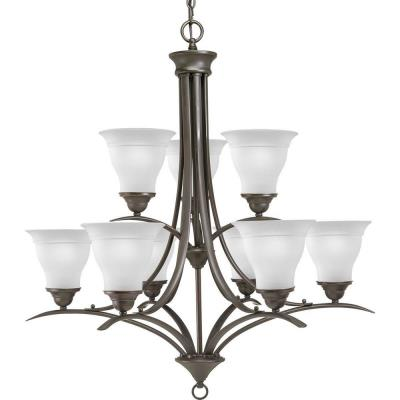 Progress Lighting P4329-20EBWB Trinity - Nine Light 2-Tier Chandelier