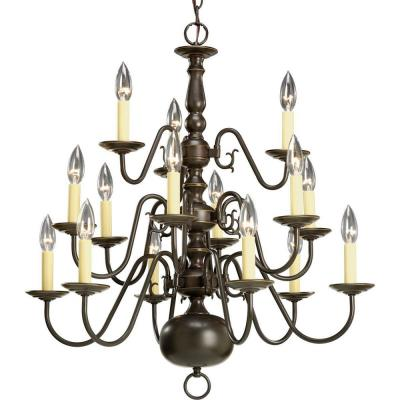 Progress Lighting P4359-20 Fifteen-Light, Three-Tier Chandelier Fixture - Chandelier