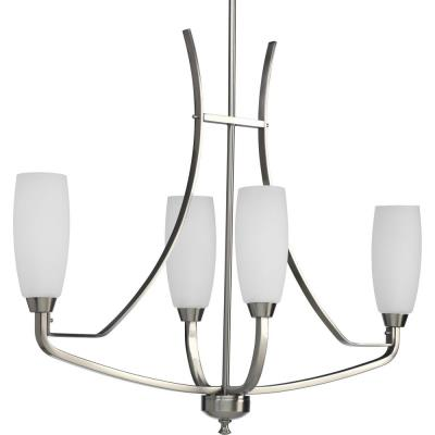 Progress Lighting P4435-09 Four-Light Linear Chandelier Fixture - Chandelier
