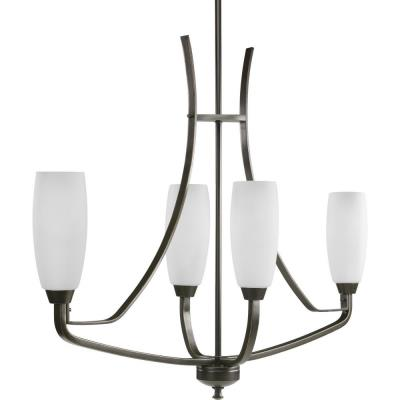 Progress Lighting P4435-20 Four-Light Linear Chandelier Fixture - Chandelier