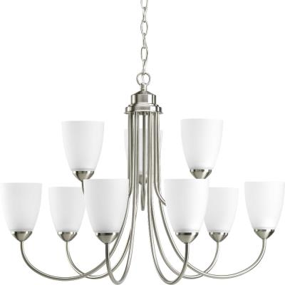 Progress Lighting P4627-09 Gather - Nine Light 2-Tier Chandelier