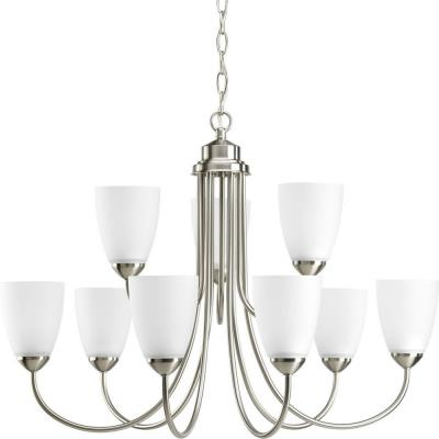 Progress Lighting P4627-09EBWB Gather - Nine Light 2-Tier Chandelier