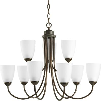 Progress Lighting P4627-20 Gather - Nine Light 2-Tier Chandelier