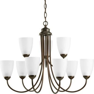 Progress Lighting P4627-20EBWB Gather - Nine Light 2-Tier Chandelier