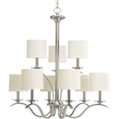Progress Lighting P4638-09 Inspire - Nine Light 2-Tier Chandelier