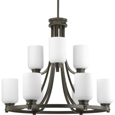 Progress Lighting P4663-20 Orbitz - Nine Light 2-Tier Chandelier