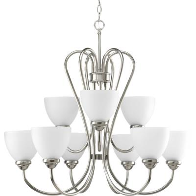 Progress Lighting P4668-09 Heart - Nine Light 2-Tier Chandelier