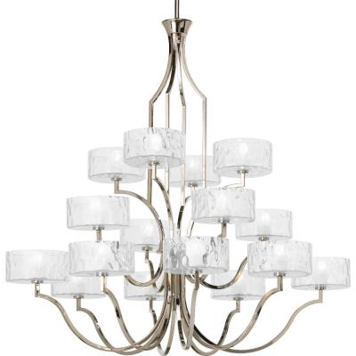 Progress Lighting P4685-104WB Caress - Sixteen Light 3-Tier Chandelier