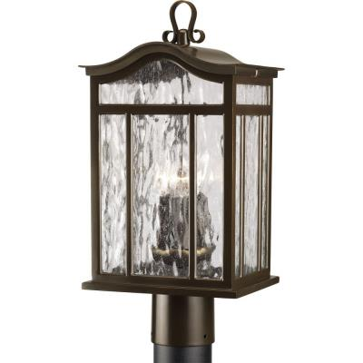 Progress Lighting P5468-108 Meadowlark - Three Light Outdoor Post Mount