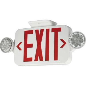 Exit Sign with Red Colored Letters